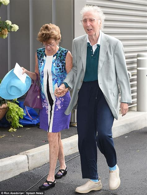 gene wilder red dress gene wilder 82 looks frail while hand in hand with wife