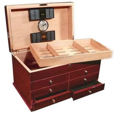 Humidor With Drawers by 300 Cigar The Landmark Humidor With Drawers