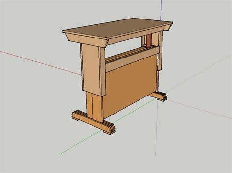 diy sit stand desk plans sit stand desk prototype for diy plans by jeff breeden