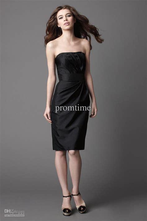 simple plain black dresses taffeta sexy short strapless