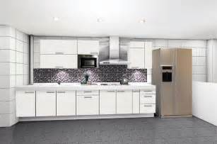 modern white kitchen cabinet folat