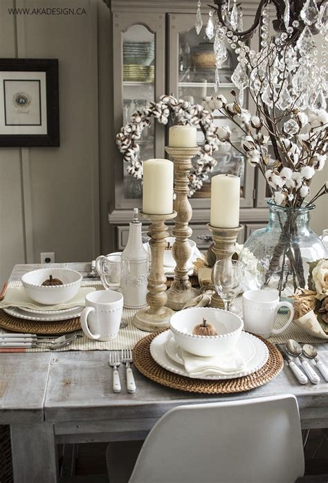 Dining Room Table Setting Ideas Early Fall Dining Room Table Settings Dining And Autumn