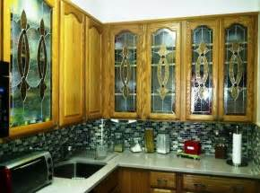 Glass Handles For Kitchen Cabinets Kitchen Design Inspiring Stained Glass Kitchen Cabinet
