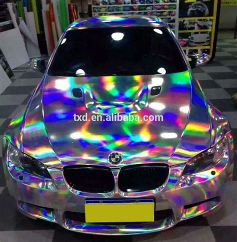 holographic car new arrival 1 49x20m purple laser chrome holographic