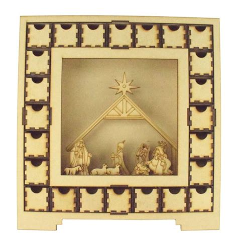 wooden nativity advent calendar with drawers the leading supplier of christmas advent calendars