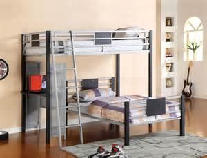 cm bk1030 summerville bunk bed w side desk