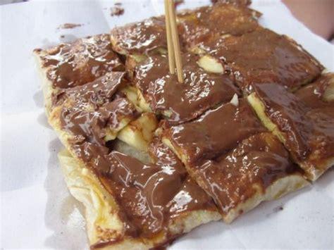 nutella  banana pancakes crepe roti thailand