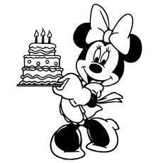 happy birthday coloring pages mickey mouse minnie mouse coloring pages birthday coloring page