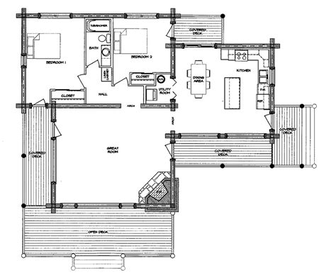 log home floor plan monte vista