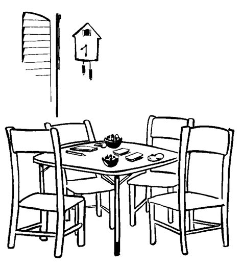 coloring page of a kitchen table gallery for gt kitchen table coloring pages