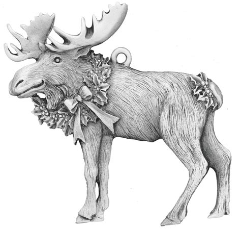 christmas moose home decor christmas moose pewter ornament made in new hshire usa
