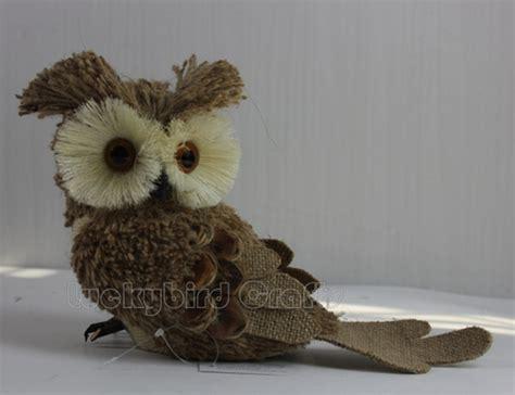 Handmade Owl Decorations - owl decoration burlap owl handmade owl ornament