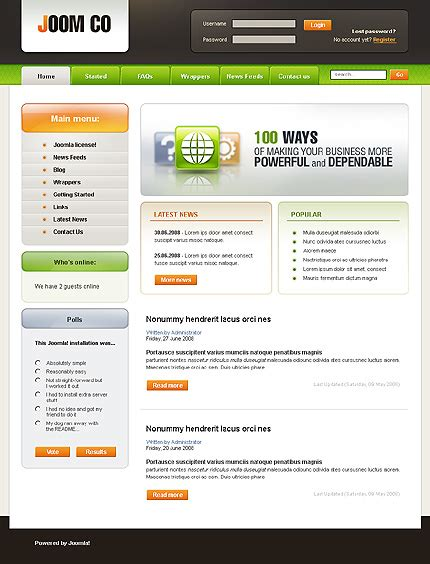 template joomla monster from template monster for free http gochittendencounty