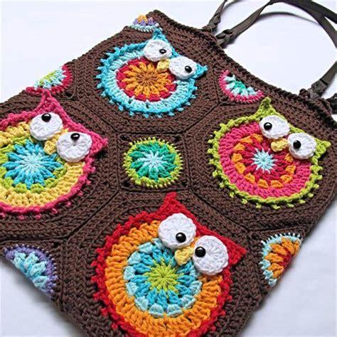 free crochet pattern owl motif diy crochet owl tote pattern 101 crochet