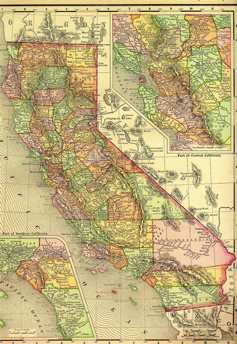 historical maps of california 1895 historical maps populations southwest backcountry