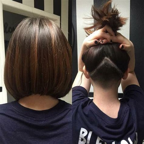 haircut bob undershave undercut with an angled bob locks by linds pinterest