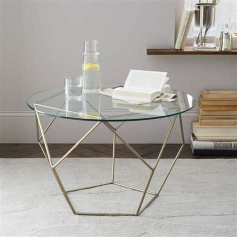 West Elm Origami Coffee Table - origami side table glass antique brass west elm