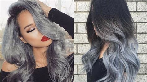 most popular hair colors for spring 2018 most popular hair color trend gray hair youtube