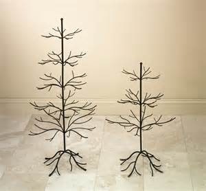Decorative trees brown finish display trees