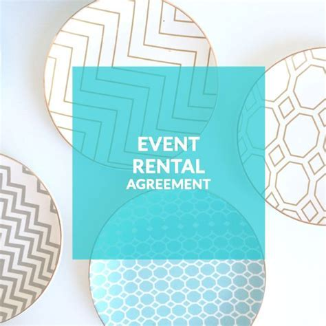 Event Rentals Template Contract; Rental Company; Wedding