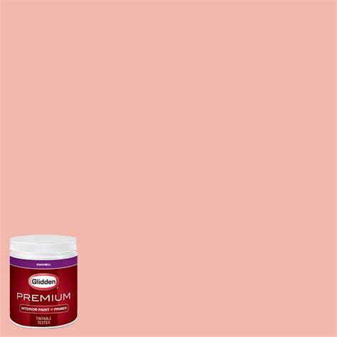 glidden premium 8 oz hdgr61 coral flower eggshell interior paint with primer tester hdgr61p