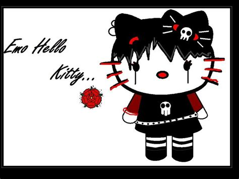 wallpaper hello kitty punk emo or goth hello kitty by iluvsnacks108 on deviantart
