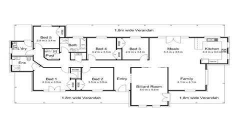 5 bedroom floor plans australia modern 5 bedroom house plans 5 bedroom house plans