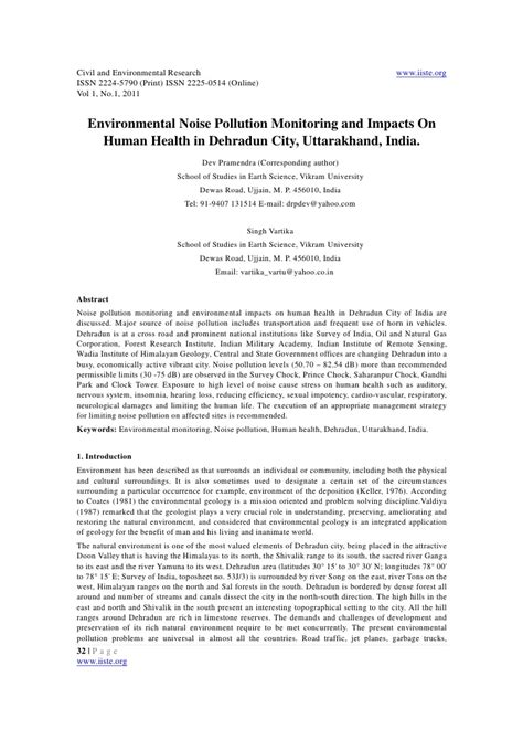 Complaint Letter Environmental Pollution 11 Environmental Noise Pollution Monitoring And Impacts On