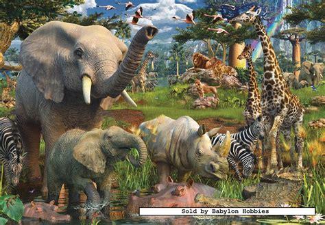imagenes de animales de la selva garden 18000 pcs jigsaw puzzle at the waterhole elephants