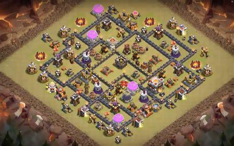 layout coc base war th9 7 th8 5 th9 5 th10 5 war base designs 2017 attackia
