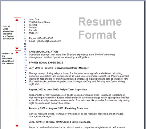 Proper Resume Format Canada by Resume Format Write The Best Resume