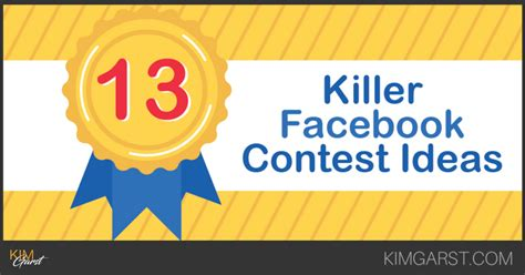 Giveaway Ideas For Facebook - 13 killer facebook contest ideas
