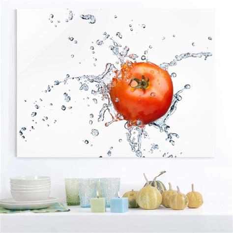 glasbild kueche tomatenbild