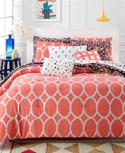 Coral Bed Sets Martha Stewart Whim Collection Coral Mirror Mirror 5 Pc Comforter Set Bed In A Bag Bed