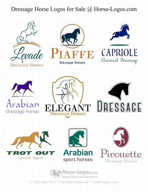 logo templates for sale dressage logo design for sale at logos