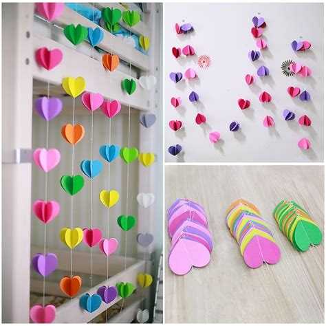 wedding supplies certerpieces decorations  heart paper garland party deco  banners