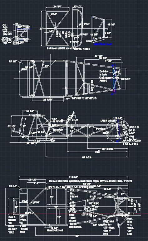 lotus 7 frame lotus 7 series 2 chassis frame dwg cad 7th