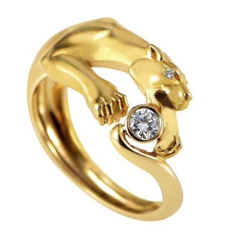 y gold panther ring at 1stdibs