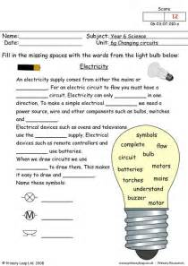 primaryleap co uk electricity questions worksheet