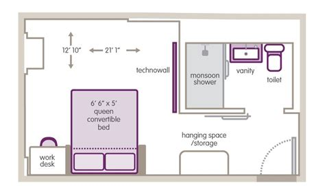 layout of twin room in hotel small hotel room floor plan hotel pinterest room