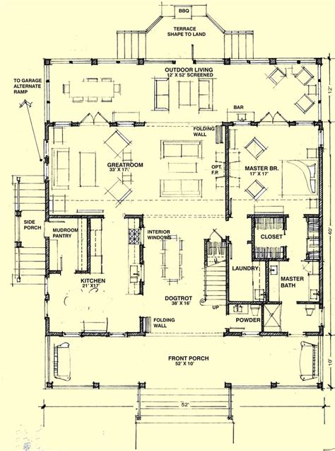 dogtrot floor plans 1first floor plan hill country house ideas pinterest