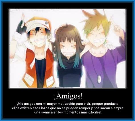 imagenes anime con frases de amistad para descargar imagenes de animes amigos y de amistad