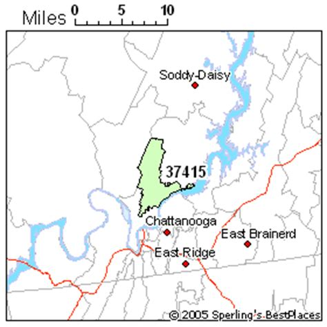 zip code map chattanooga tn best place to live in chattanooga zip 37415 tennessee