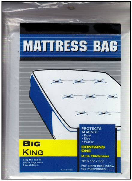 cing furniture bags king size plastic mattress bag