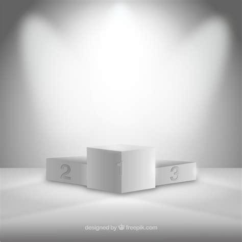 Illuminated Pedestal White Podium Vector Free Download