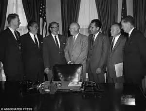 Dwight Eisenhower Cabinet Members by Adviser Mocks Attacks On Rich Cabinet Members