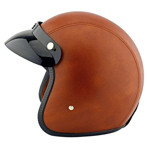 leather motorcycle helmet tpfocus fashion 3 4 open face motorcycle leather vintage