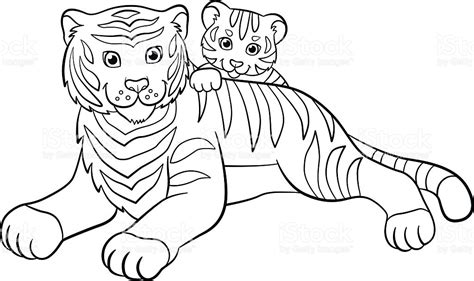 baby wild animals coloring pages coloring pages wild animals mother tiger with her cute