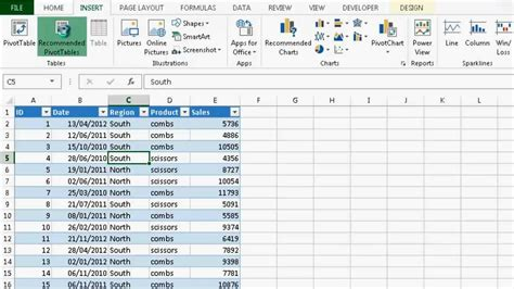 Pivot Tables In Excel 2013 by Excel 2013 Recommended Pivot Tables