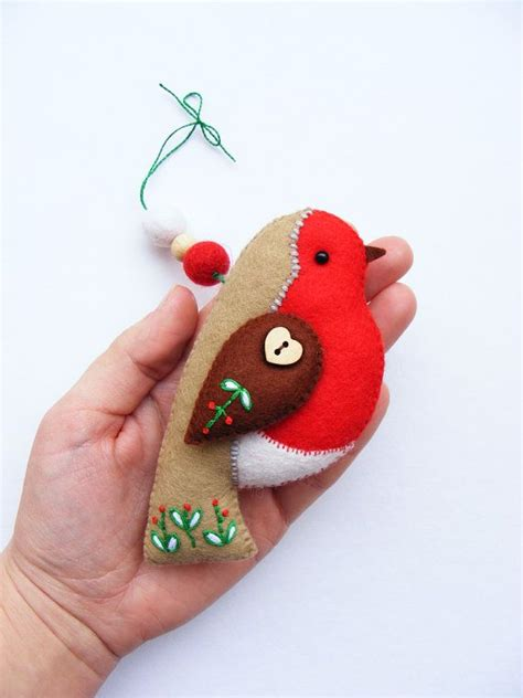 pattern for a felt robin pdf pattern felt robin with embroidered details